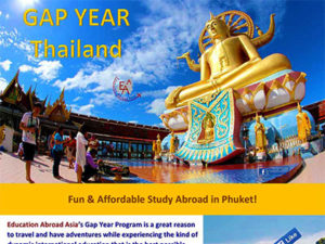 Phuket Gap Year Program international exchange students media