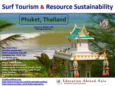 Study Phuket Surf Tourism Dr. Steven Martin Education Abroad Asia