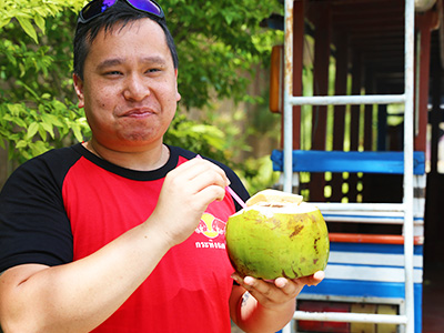 Sophay hates coconuts - Education Abroad Asia Phuket Thailand - USA Group Program