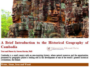 Dr. Steven Martin historical geography Cambodia research
