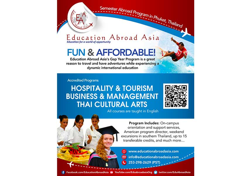 Education Abroad Asia - 2017-2018 Quarter Page Flyer 4.25 x 5.5 inches