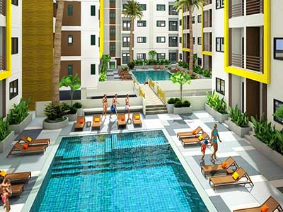 Ratchaporn Condo Swimming Pool - Education Abroad Asia Housing - Study in Phuket