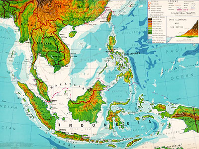 Asian Wave - Southeast Asia Map - Education Abroad Asia